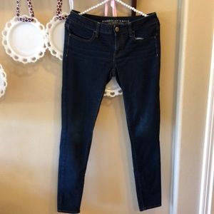 American Eagle Dark Wash Stretch Denim Jegging